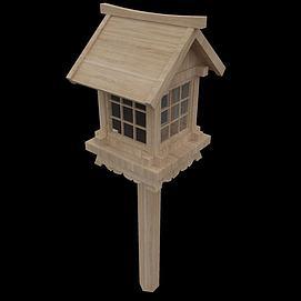 景观园林小品木灯模型