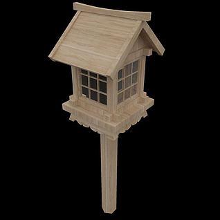 景观园林小品木灯3d模型