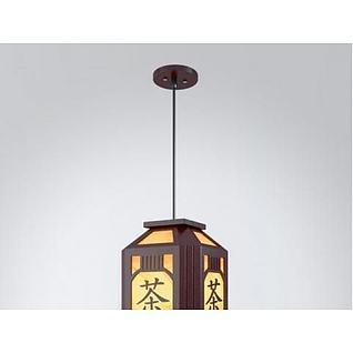 茶楼吊灯3d模型