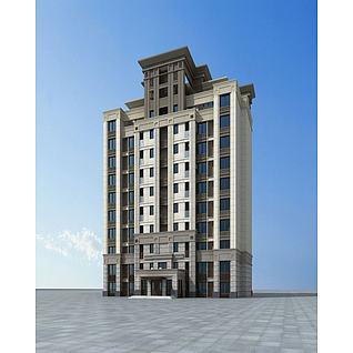 欧式多层住宅楼3d模型3d模型