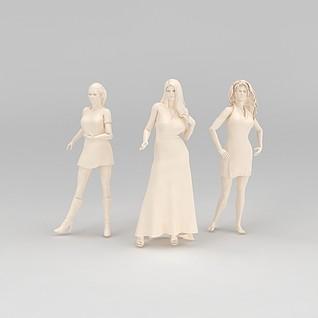 人物雕塑摆件3d模型3d模型