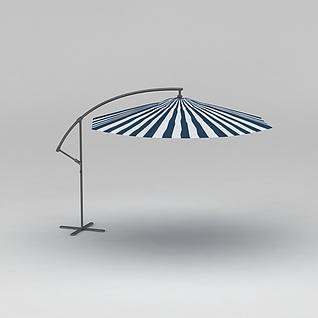 室外遮阳伞3d模型
