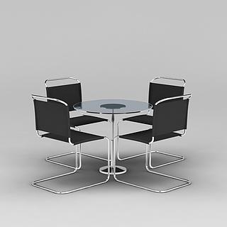 公司洽谈桌椅3d模型