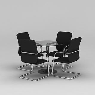 简约洽谈桌椅3d模型3d模型