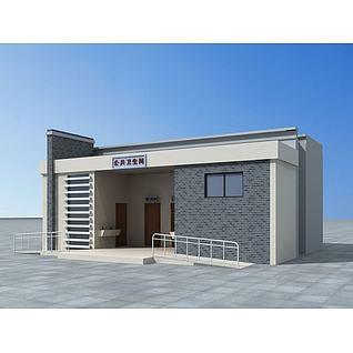 公共厕所3d模型3d模型