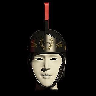 罗马骑兵指挥官头盔3d模型