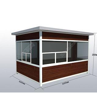 岗亭3d模型3d模型