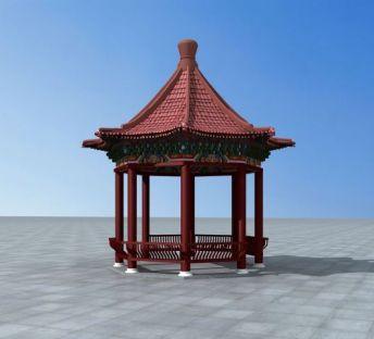 藏式八角亭