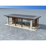 现代休息凉亭3D模型3d模型