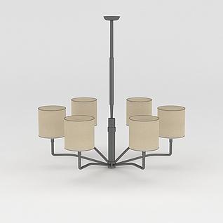 简约客厅吊灯3d模型3d模型