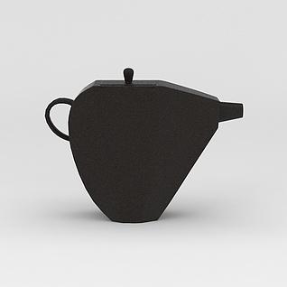 复古古董茶壶3d模型3d模型