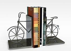 创意<font class='myIsRed'>自行车</font>书立3d模型