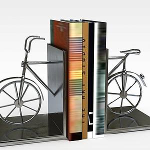 创意自行车书立模型3d模型