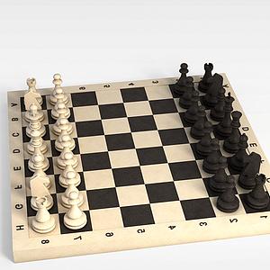 3d西洋棋模型