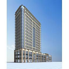 高级酒店建筑3D模型3d模型