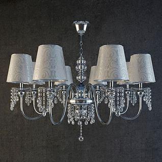 欧式奢华吊灯3d模型