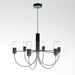 工业风吊灯3d模型