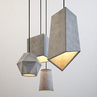 创意饭厅吊灯3d模型