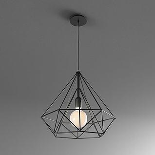 钻石吊灯3d模型
