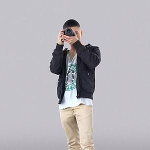 拍照的男孩模型
