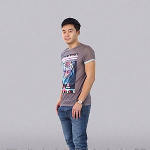 3d短袖男人模型