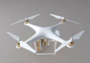 精灵  4 大疆无人机模型3d模型