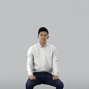 3d亚洲男人模型
