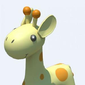 长颈鹿座椅模型