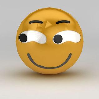 微信表情坏笑3d模型