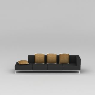 客厅简约沙发3d模型3d模型