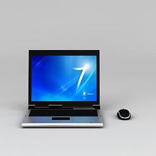 笔记本电脑3d模型3d模型