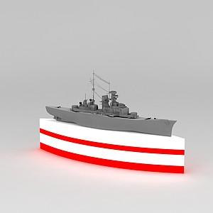 轮船摆件模型3d模型