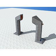 成都宽窄巷子雕塑3D模型3d模型