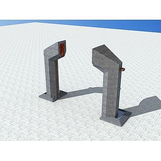 成都宽窄巷子雕塑3d模型