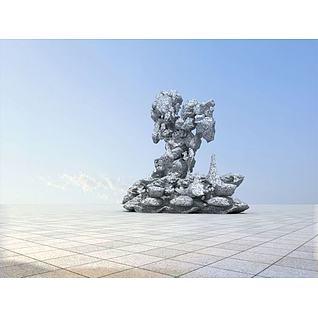 太湖石3d模型