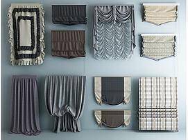 厨卫布艺窗帘模型