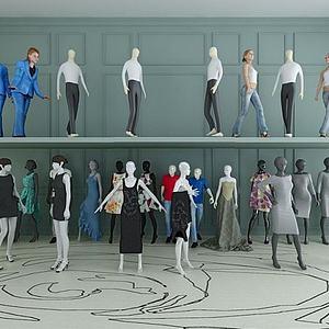 商场服装模特道具模型