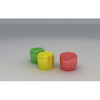 辣椒凳3d模型