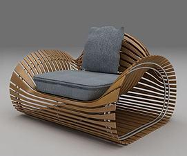 异形藤椅3d模型