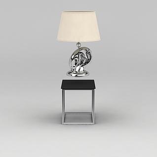 客厅边几台灯组合3d模型3d模型
