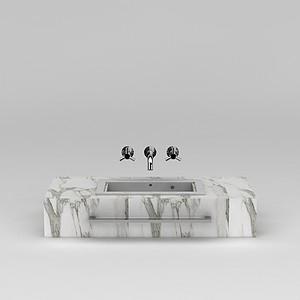 大理石洗手台模型