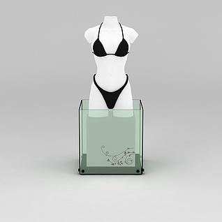 内衣展示模特道具3d模型