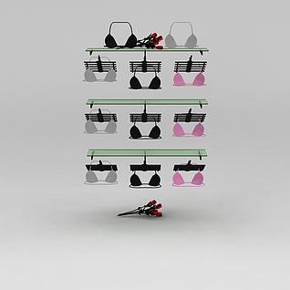 内衣展示架3d模型3d模型