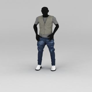 黑色模特道具3d模型