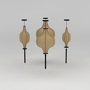 3d中式风格灯笼吊灯模型