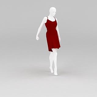 女装展示模特道具3d模型