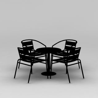 休闲室外桌椅3d模型3d模型