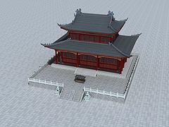大雄寶殿3D模型