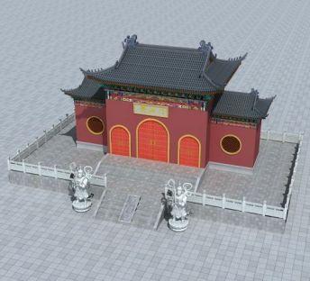 寺庙前山门
