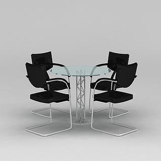 洽谈桌椅3d模型3d模型